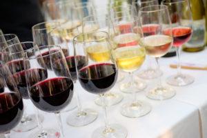 romantic wine tasting